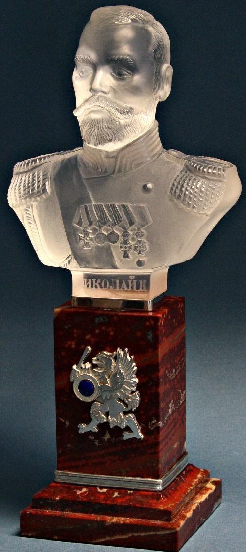 Emperor Nicholas II. Quartz, jasper, amethyst, silver Metalcraft - E. Eremin
