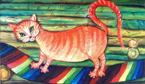 Ginger. Oil on cardboard. 1997