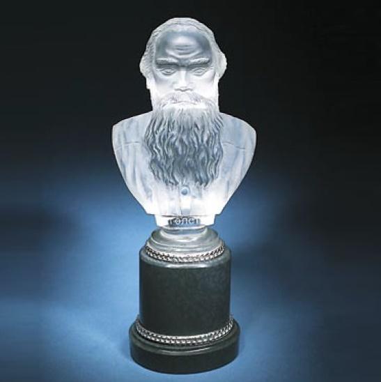 Leo Tolstoy bust. silver, rock crystal, jasper