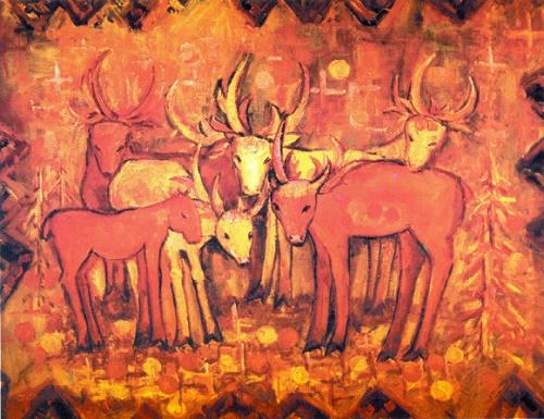 Sunny deer. 1999