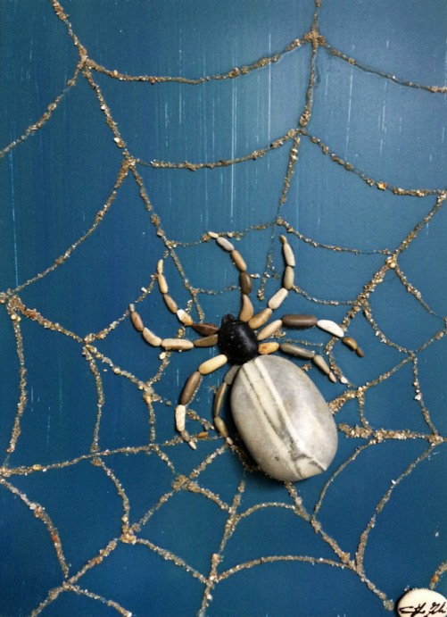 A spider in the web