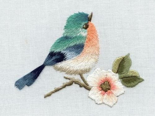 Little bird and flower