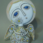 Camomile ceramic angels by Aram Hunanyan