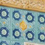 Central Asian ornamental ganch carving art