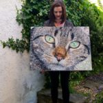Beautiful and talented Sarah Connor with her creation