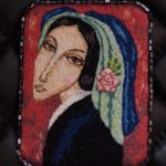 Embroidered on the motives of the painting by the artist Sergei Smirnov