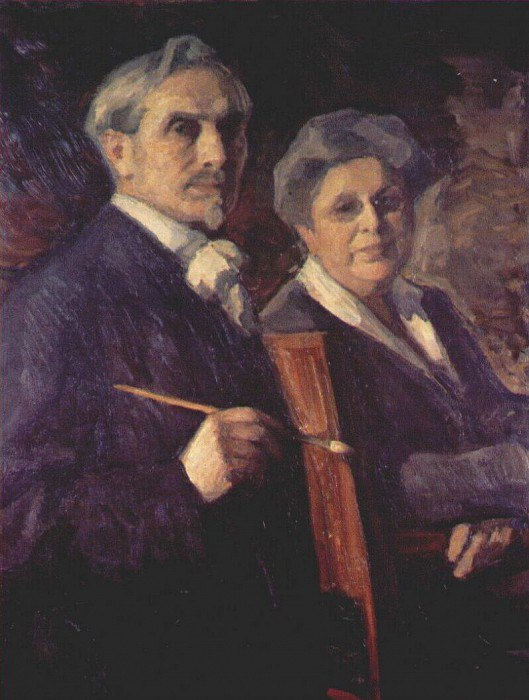 A double portrait of the artist and his wife