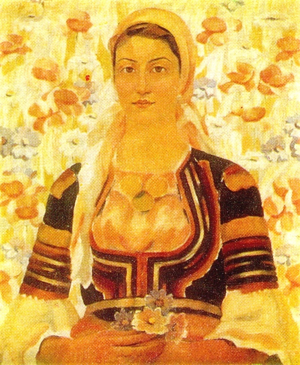 A peasant girl from the village of Kalotino, Radomir district. 1926. National Art Gallery. Sofia