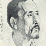 An excellent laborer Zhen Jidong. 1951. Coal, white
