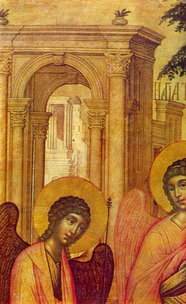 Detail of icon. Trinity. 1671. The State Russian Museum