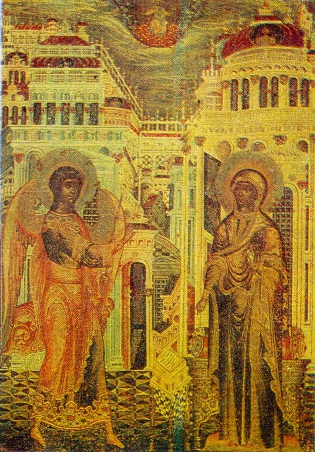 Fragment. Annunciation. 1659. Church of the Trinity in Nikitniki