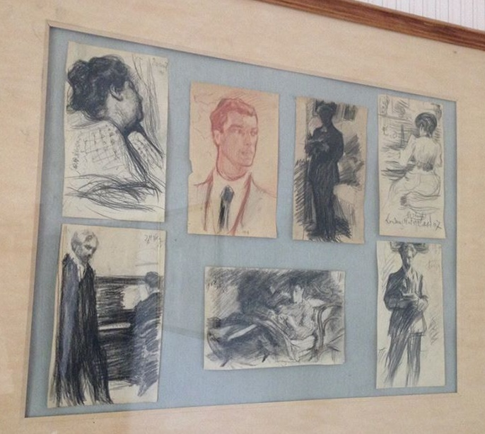 House Museum of Boris Pasternak in Peredelkino. Father's drawings