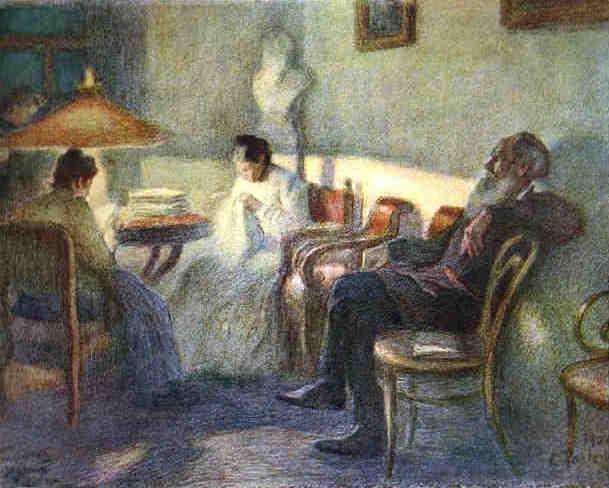 Leo Tolstoy with his family. 1902