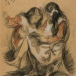 Lydia and Josephine, the daughters of Leonid Pasternak, 1908