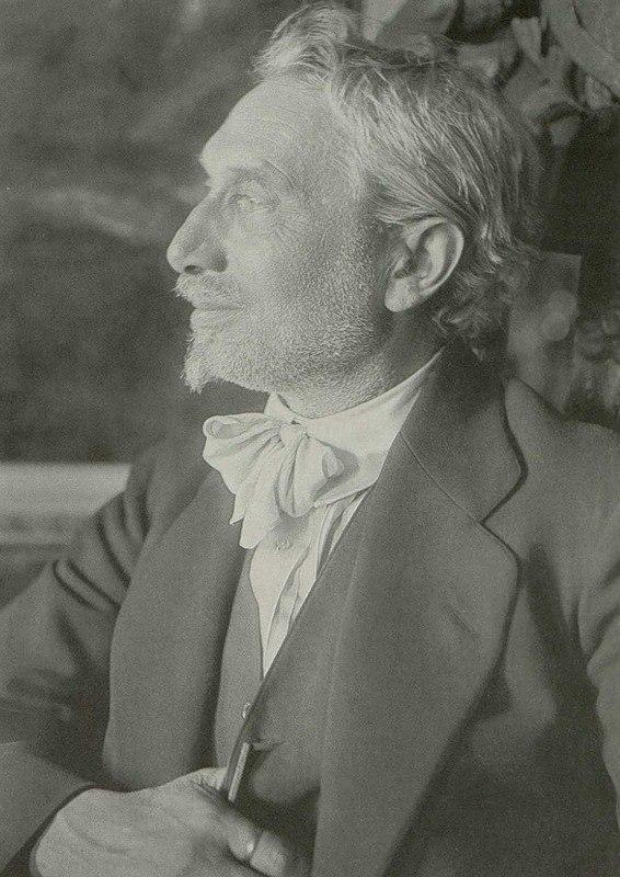 Russian painter and graphic artist Leonid Osipovich Pasternak (1862-1945). 1921. Photographer Robert Johanson