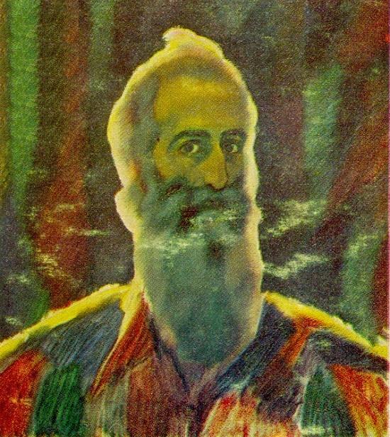 Self-portrait. 1921. Bulgarian artist Vladimir Dimitrov Maistor (1 February 1882 – 29 September 1960)