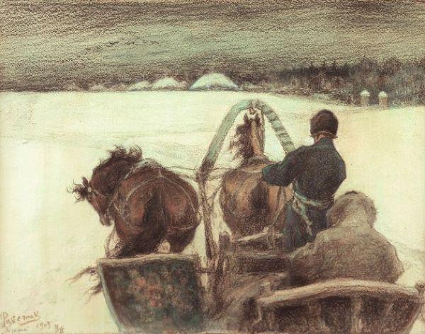 The road to Yasnaya Polyana. 1903