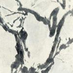 Winter landscape. Ink, mineral paints
