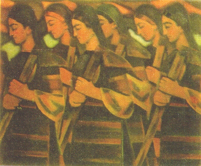 Women with hoes. 1935-1938. National Art Gallery. Sofia