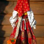 A doll in red sarafan