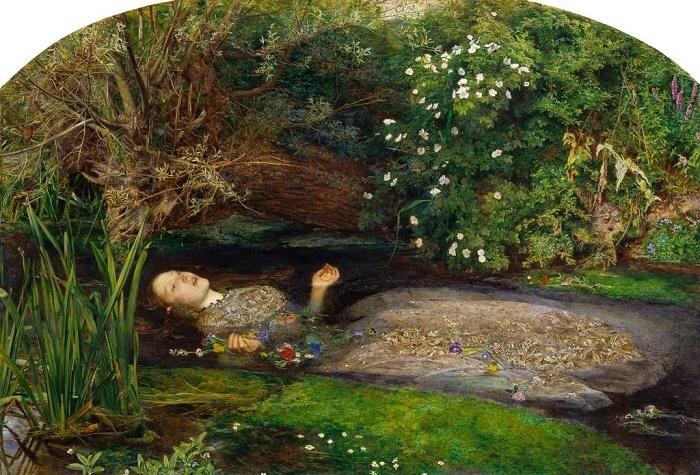 Death of Ophelia (1851-1852). Painting by Sir John Everett Millais