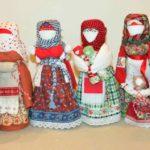 Slavic faceless folk doll magical power