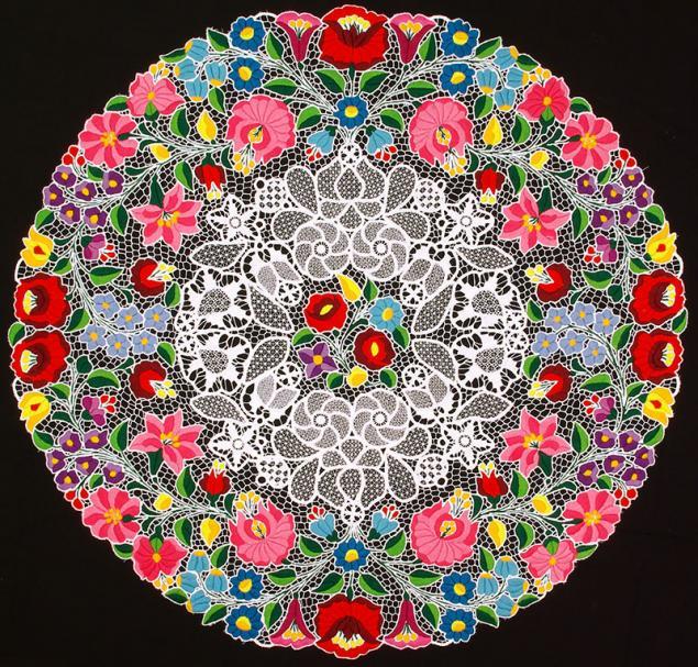 Kalocsa embroidered napkin