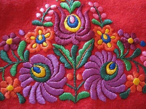 Patterns of folk art embroidery Matyo
