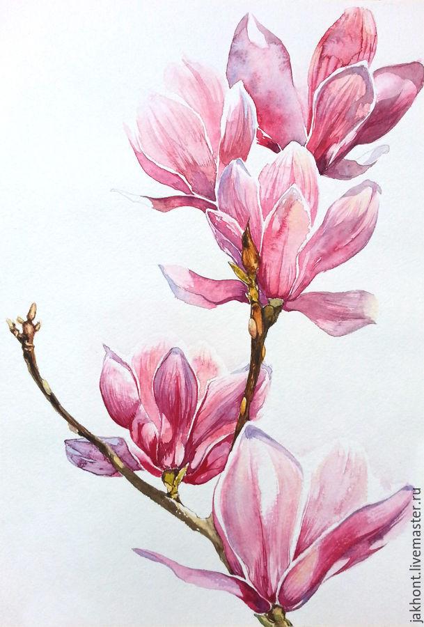 Pink storm. Watercolors