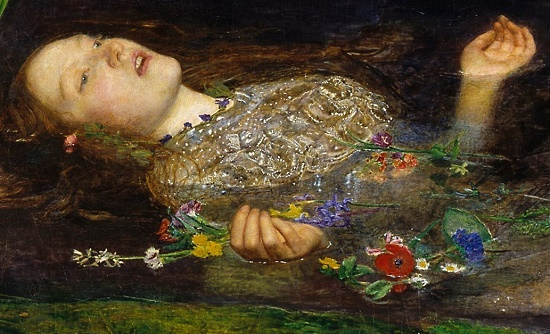Symbolic Death of Ophelia by John Everett Millet