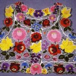 Hungarian folk art embroidery Matyo Roses