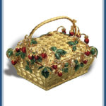 Berry Bowl. Gold, diamonds, enamel
