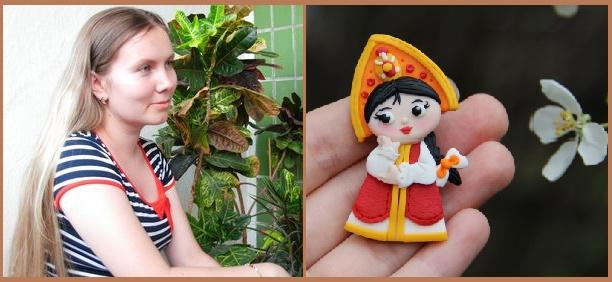 A miracle on the palm - Olga Ponomareva Miniature brooches