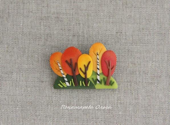 Autumn in winter brooch
