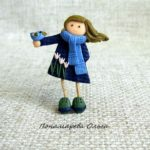 Blue bird of happiness, brooch