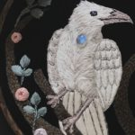 Closeup - white Raven