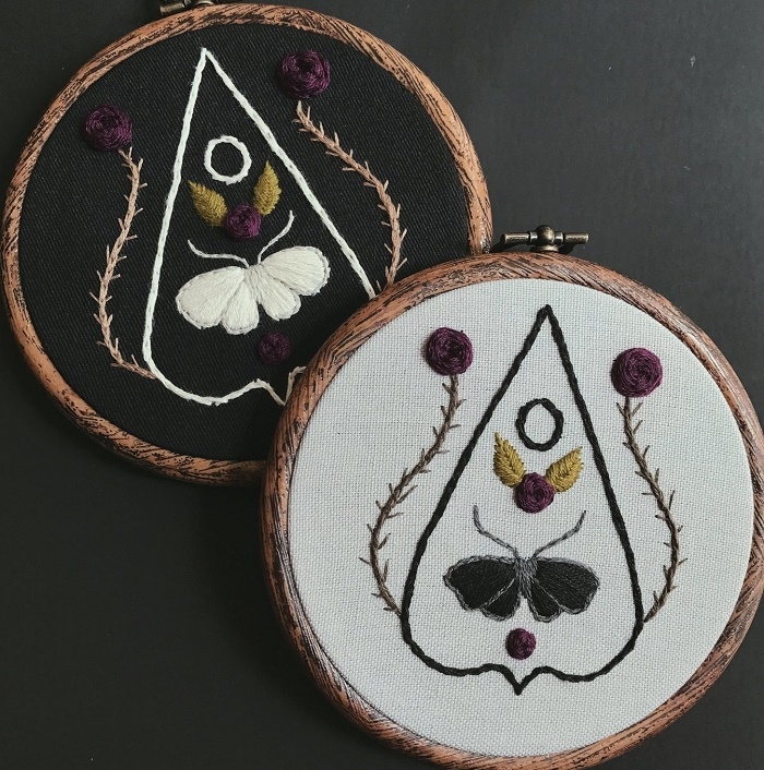 Gothic embroidery art by Lyla Mori