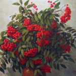 Ivan Plastinkin. Still life with red rowan