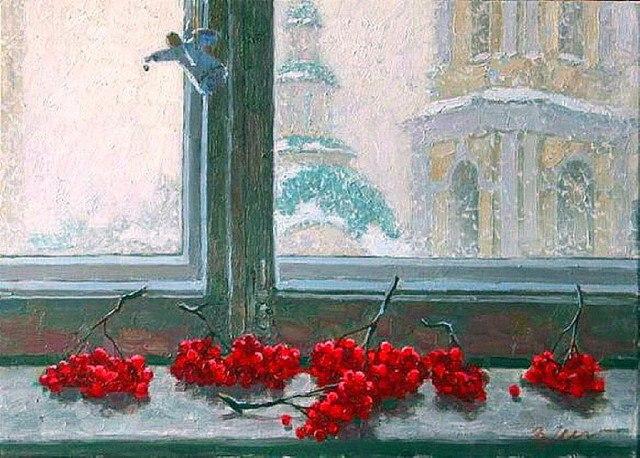 Vladimir Mullin. Rowan on the window