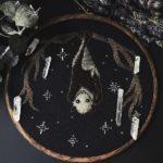 Lyla Mori spooky symbolic embroideries