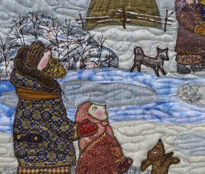 Detail of Panno Christmas
