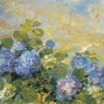 Blue hydrangea. 73 x 92 cm