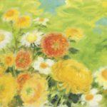 Chrysanthemums. 34 x 55.5 cm