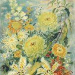 Chrysanthemums. ca. 1970. 55 x 38 cm