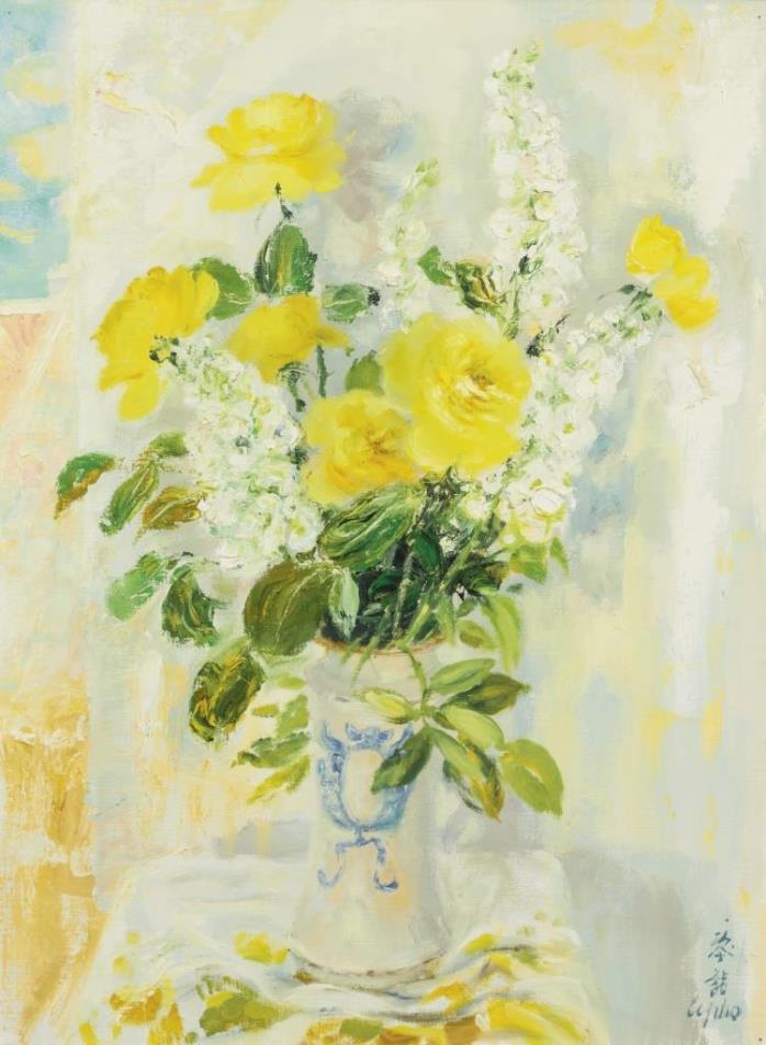 Delft vase. 81.3 x 60.3 cm