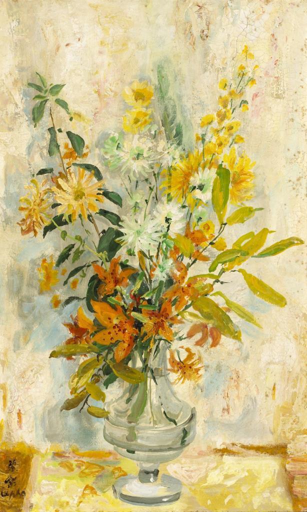 Flowers. ca. 1980. 61 x 38 cm