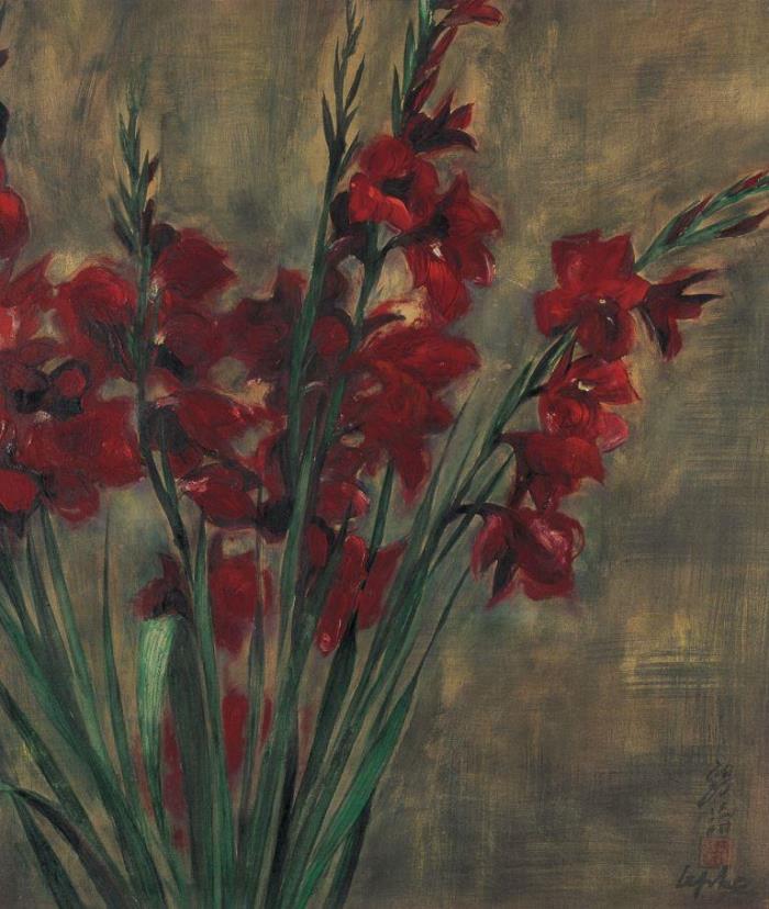 Gladiolus. ca. 1948. 51.5 x 44 cm