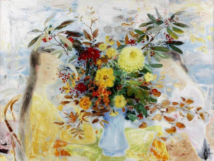 Harmony in yellow. 97 x 130 cm