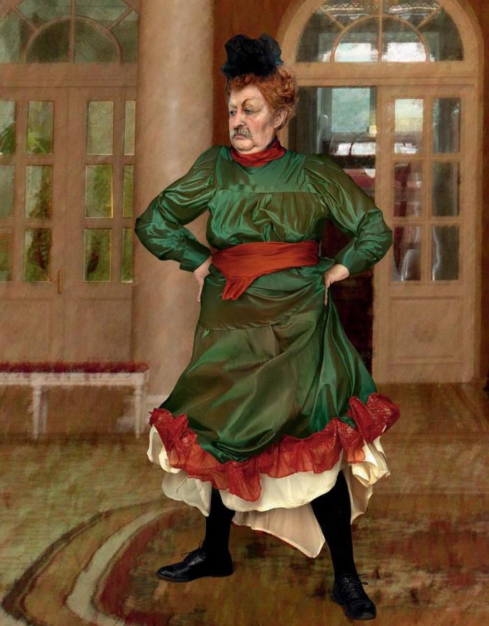 Henri de Toulouse-Lautrec 'Start quadrille at Moulin Rouge'. 1892. Actor Leonid Yakubovich