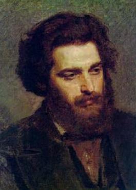 Ivan Kramskoy 'Portrait of A.I. Kuindzhi '. 1872